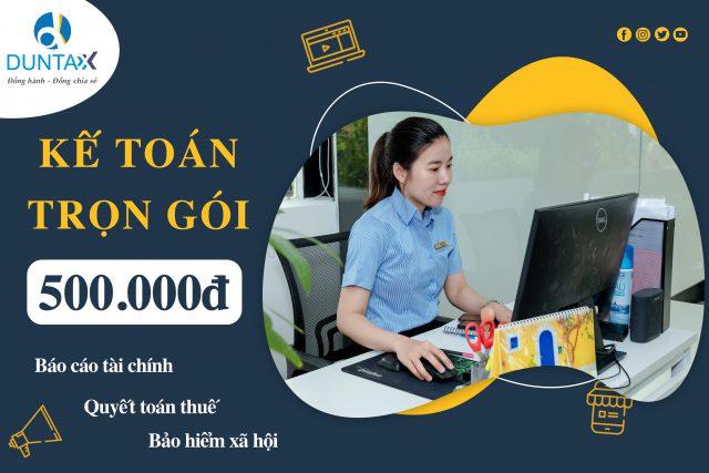 Dịch vụ báo cáo thuế chỉ 500.000đ/tháng