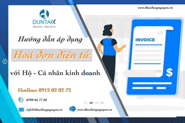 Hướng dẫn áp dụng hoá đơn điện tử với hộ - cá nhân kinh doanh